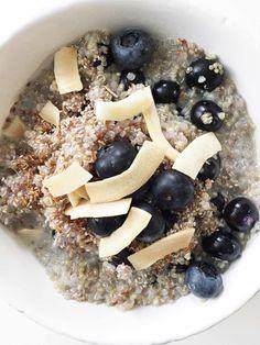 Blueberry & Coconut Breakfast Quinoa — The Skinny Fork