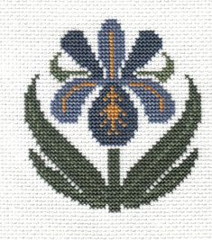 finished completed cross stitch PRAIRIE SCHOOLER garden blooms iris PREORDER