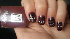 Marsala colour nails