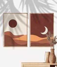 Cactus Wall Art, Floral Wall Art, Abstract Wall Art, Orange Wall Art, Botanical Wall Art, Minimalist Art, Minimalist Painting, Diy Canvas Art, Geometric Art