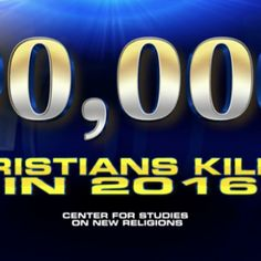 According to a new report by the Center for Studies on New Religions, Christians were the most persecuted religious group in the world in 2016. Figures show that over 90,000 Christians were slaughtered last year and thirty percent of the murders were carried out by radical Islamists. A full report is expected to be released next month by the Italian research group, states Fox News.