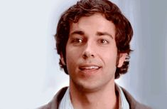Zachary Levi as Chuck Bartowski, the early years - I kind of love the longish curly hair