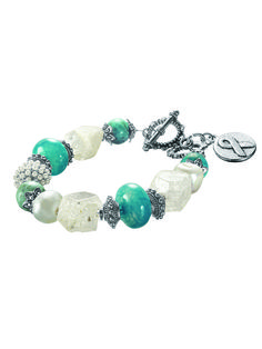 #LMOCF Bracelet of Hope is designed to give hope, joy and positive energy to those who wear it. 100% of the profits from the sale of this product will be donated to the Laura Mercier Ovarian Cancer Fund.