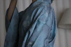 Japanese silk Kimono chrysanthemum baby blue by WildRosebudDesigns, $245.00