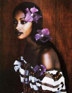 Naomi Campbell, 'Paul Gauguin' Harper's Bazaar 1992.Photo by P.LINDBERGH