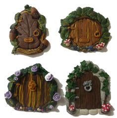 Fimo fairy doors