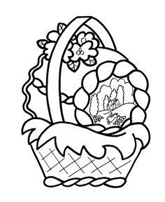 Easter Basket Coloring Page Easter Pinterest Easter baskets