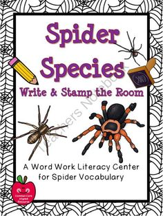 Spider Species Write / Stamp the Room Activity Pack from overthemoonbow on TeachersNotebook.com -  (19 pages)  - This engaging, spider themed activity pack will help your students practice reading, writing, & learn spider species vocabulary; a perfect complement to your seasonal activities!