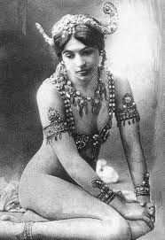 The amazingly seductive, incredibly mysterious Marta Hari....Read about her life, she was an interesting woman!