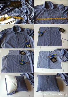 Reciclar camisa de chico: cojín