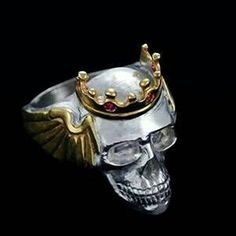 Check out this item in my Etsy shop https://www.etsy.com/listing/214024309/king-skull-ring