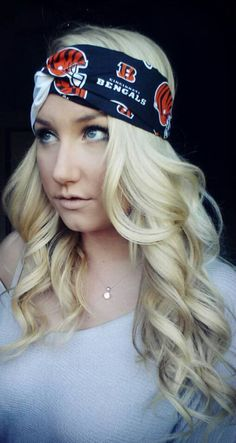 Cincinnati Bengals headband by TheWoodenAntler on Etsy