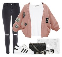 """""""Style - 209"""" by melikekeles ❤ liked on Polyvore featuring Chanel, River Island, MANGO, WithChic and adidas Originals"""