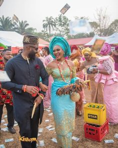 Igbo Traditional Engagement: Bride Price List For Grooms Preparing For Marriage Introduction. Igbo traditional engagement is thought to be one of African Bridal Dress, Nigerian Lace Dress, African Wear Dresses, Nigerian Bride, Latest African Fashion Dresses, African Attire, African Fashion Traditional, African Traditional Wedding Dress, Traditional Wedding Attire