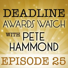 """My latest audio podcast """"Deadline Awards Watch With Pete Hammond"""" is here.   We talk about the likely Oscar impacts of  new rules on foreign films; the Tony Awards nomination snubs of big Hollywood names; and the week's new movies, including Baz Luhrmann's sleek new take on The Great Gatsby and Sarah Polley's autobiographical documentaryStories We Tell.  Hear the whole thing here: http://www.deadline.com/2013/05/deadline-awards-watch-with-pete-hammond-episode-25/"""