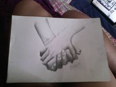 Hold my Hand ...Hold my heart  #instaart #art #hands #blackandwhite #grey #pencil #holdinghands #hand #draw #drawing #