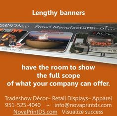 Fabric banners can be 10'h without a seam and essentially an unlimited width! #‎sublimation‬ ‪#‎printing‬ ‪#‎fabric ‪
