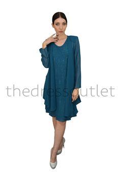 Short Mother of the Bride Formal Dress Long Jacket Plus Size - The Dress Outlet - 10