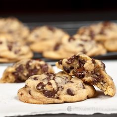 Chewy Soft Chocolate Chip Cookies.  These are The BEST.  They stay soft and chewy (not cakey) for days.  The dough freezes very well.