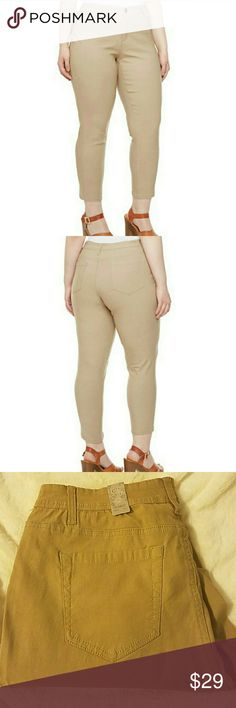 Plus size stretchy pants NWT You can use these for work or play,they feature a slim silhouette through the legs,with faux front pockets and a functional coin pocket,you can style with a Cami,blazer and heels for a chic look measure inseam to bottom : 30 inches. SEE PIC 4 FOR EXTRA MEASUREMENTS PRICE FIRM UNLESS BUNDLED  RETAIL PRICE IS 49.00 Pants