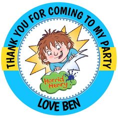 Personalised Gloss Birthday Horrid Henry Party Bag Sweet Cone Stickers Party Gift Bags, Party Gifts, Sweet Cones, Birthday Bag, Party Bag Fillers, Lol Dolls, Kids Boxing, Goodie Bags, Kids Boys