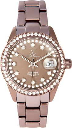 Toy Watch Toywatch Silver Steel Strap Watch in Pink (silver)