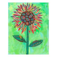 mexican wall art | Oopsy daisy Mexican Sunflower Canvas Wall Art by Carter Carpin, 18x24 ...