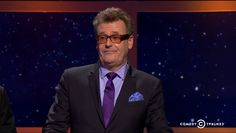 12/2/14 Greg Proops looks really handsome.  The purple tie with lilac shirt really looks nice.