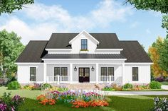 Three-bed Farmhouse with open concept living - 51183MM - 01