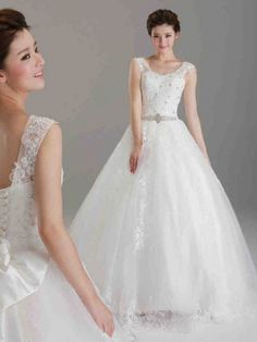 Dathybridal #ウェディングドレス ボールガウン スパゲティストラップ レースアップ ノースリーブ ボウ #オーガンジー アイボリー スウィープ 結婚式 二次会ドレス 花嫁 Hlb0079