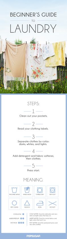 Spring cleaning already underway? Give this guide to your teens so they can help out with the laundry!