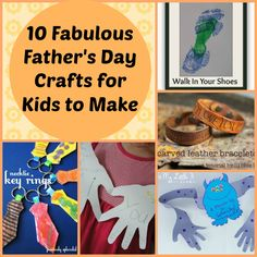 Father's Day Kid Made Crafts - 10 fabulous crafts for both older and younger kids to make for dad #ForDad #FathersDay