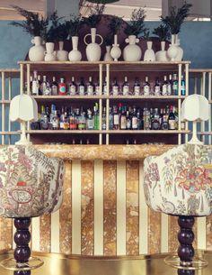 Color Shapes, Decoration, Bar Cart, Perfect Place, All The Colors, Liquor Cabinet, Mountain, Places, Furniture