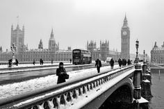 London Winter – please? London Winter, London Snow, London City, London Bus, London Bridge, Oh The Places You'll Go, Places To Travel, Places To Visit, Beautiful London