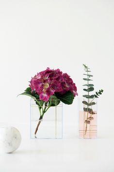DIY Clear Grid Vases Nomess