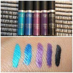 Swatched! Kiko Cosmetics Definition Waterproof Eyeliner