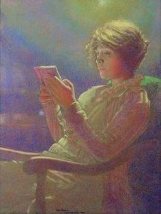 23silence:  Leon Kamir-Kaufman (1872-1933) - Woman Reading