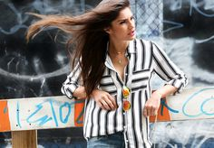 NC Street Style / Striped blouse