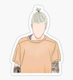 Justin Bieber Drawing  Pegatina
