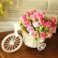 macetas y triciclos con flores vintage - Buscar con Google
