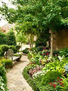 It's possible to add a garden along the side of your house or some other structure like garage or garden shed. You're able to check with the garden center Rock Garden Plants, Garden Paths, Side Yard Landscaping, Landscaping Ideas, Landscape Design, Garden Design, Natures Path, Path Ideas, Garden Inspiration