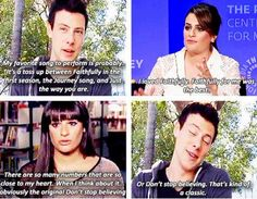 Lea Michele and Cory Monteith on their favorite songs