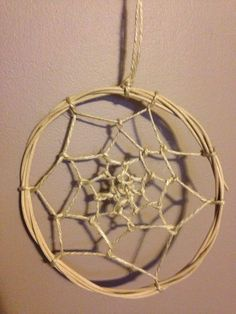 Dream catcher from recycled materials