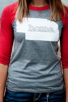 Home 3/4 sleeve favorite tee-I want one for SD and CA