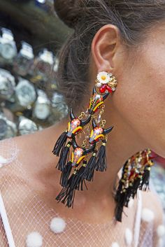 I love Mercedes Salazar's earrings!