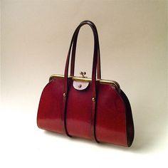Mid Century vintage Etienne Aigner Oxblood by SkinnyandBernie Vintage  Handbags 0088d4c4e20d1