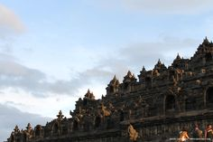 The front side of Borobudur Temple