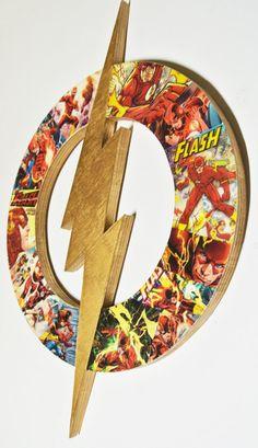 The Flash Man Cave Decor - Superhero Wall Art - DC Themed Baby Shower Gift - Comic Book Nerd Fan Art - DC Room Decor by helloskywalker on Etsy Diy Baby Gifts, Craft Gifts, The Flash, Baby Shower Themes, Baby Shower Gifts, Superhero Wall Art, Flash Superhero, Nerd Decor, Art Mural