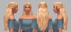 🎃Happy Simblreen V: Moonstone Hairs🎃 Medieval Hairstyles, Victorian Hairstyles, Sims 4 Cc Packs, Sims 4 Mm Cc, Princess Hairstyles, Female Hairstyles, Blonde Hairstyles, Disney Princess Challenge, Sims 4 Decades Challenge