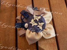 con mariposas y perla de Algodón de Luna en azules y rata con beige para bodas,bautizos ,comuniones,detalles múltiples elegantes y diferentes